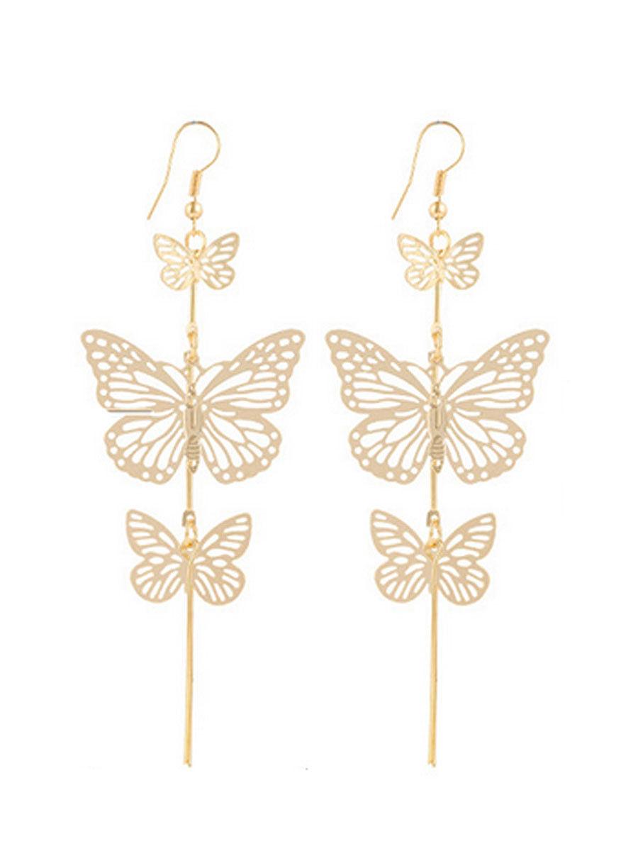 Butterfly Shape Elegant Metal Earrings For Women