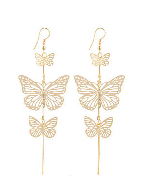 Berrylook coupon: Butterfly Shape Elegant Metal Earrings For Women