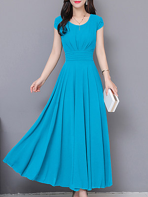 Buy Maxi Dresses online sale, stores and shops from Berrylook Apparel & Accessories>Clothing>Dresses, Berrylook Round Neck Plain Maxi Dress is well made of and it\\\'s features are: length:128,shoulder:39,bust:102 (in inches). Find best lace maxi dress, petite dresses at Berrylook.com