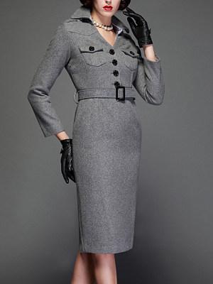 Henley Collar Bodycon Dress