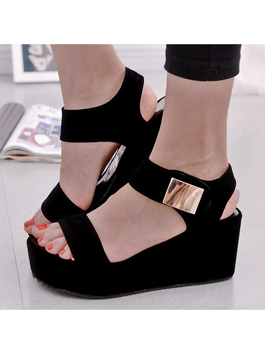 BerryLook High Heeled  Ankle Strap  Peep Toe  Casual Date Sandals