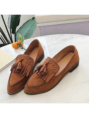 Plain Flat Peep Toe Casual Travel Flat & Loafers, 8507685