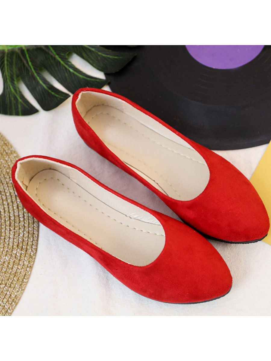 BerryLook Plain  Flat  Velvet  Round Toe  Casual Flat & Loafers