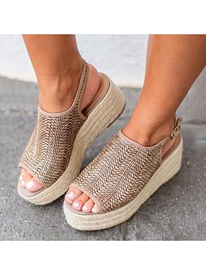 Bohemian Peep Toe Casual Date Platform Sandals, 6447172