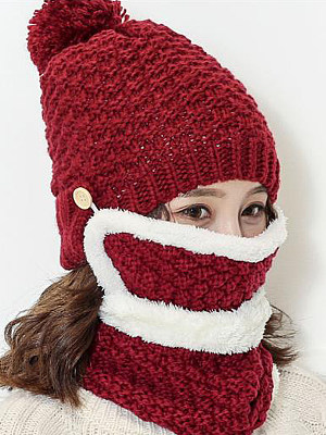 Berrylook coupon: Korea Stylish Warm Knitted Crochet Hats For Winter