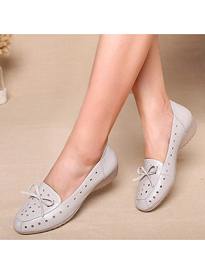 Plain Flat Round Toe Casual Flat & Loafers, 7521097