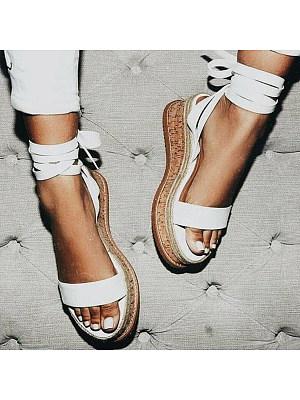 Plain  High Heeled  Velvet  Ankle Strap  Peep Toe  Casual Date Platform Sandals