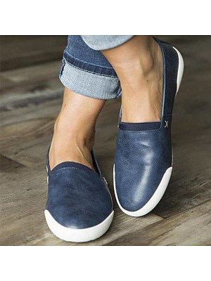 Plain Flat Round Toe Casual Travel Flat & Loafers фото