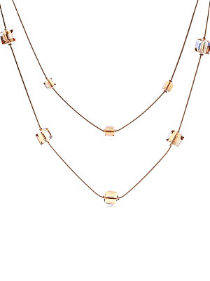 Berrylook coupon: Crystal Cube Long Necklace