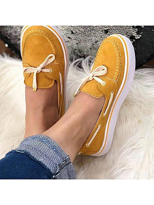 Plain Round Toe Casual Sneakers, 8317751