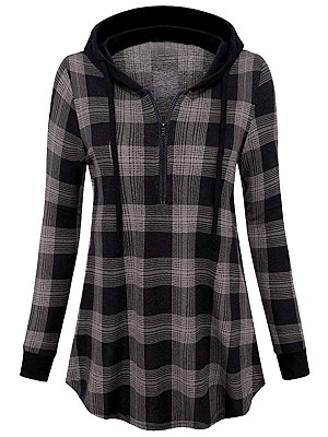 Hooded  Checkered Hoodie