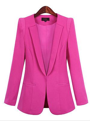 Fashion Long Sleeve Lapel Blazer