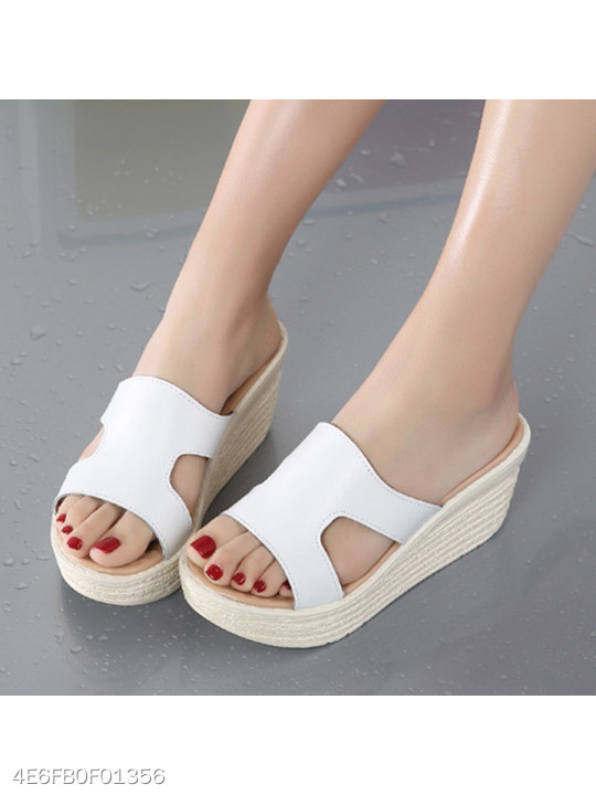 4ad7cce52f63 Plain Peep Toe Casual Date Wedge Sandals - berrylook.com
