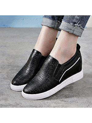 Plain Invisible Round Toe Sneakers, 8999973