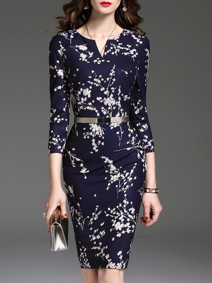 Sweet Heart  Floral Bodycon Dress