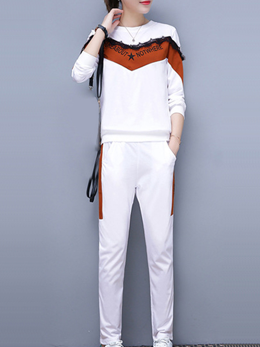 Casual  Colouring  Long Sleeve Suit