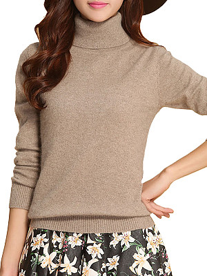Heap Collar Patchwork Brief Long Sleeve Knit Pullover, 9186984