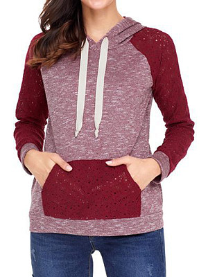 Hooded Lace Patchwork Hoodie