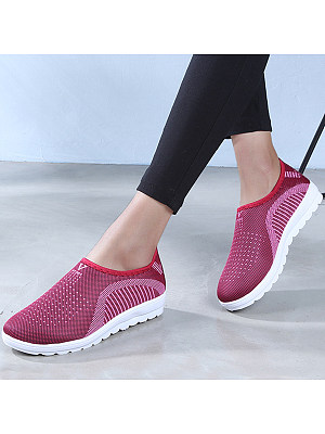 Color Block Flat Round Toe Casual Sport Sneakers фото