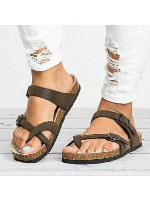Animal Printed Plain Flat Velvet Peep Toe Casual Comfort Slippers, 6310037