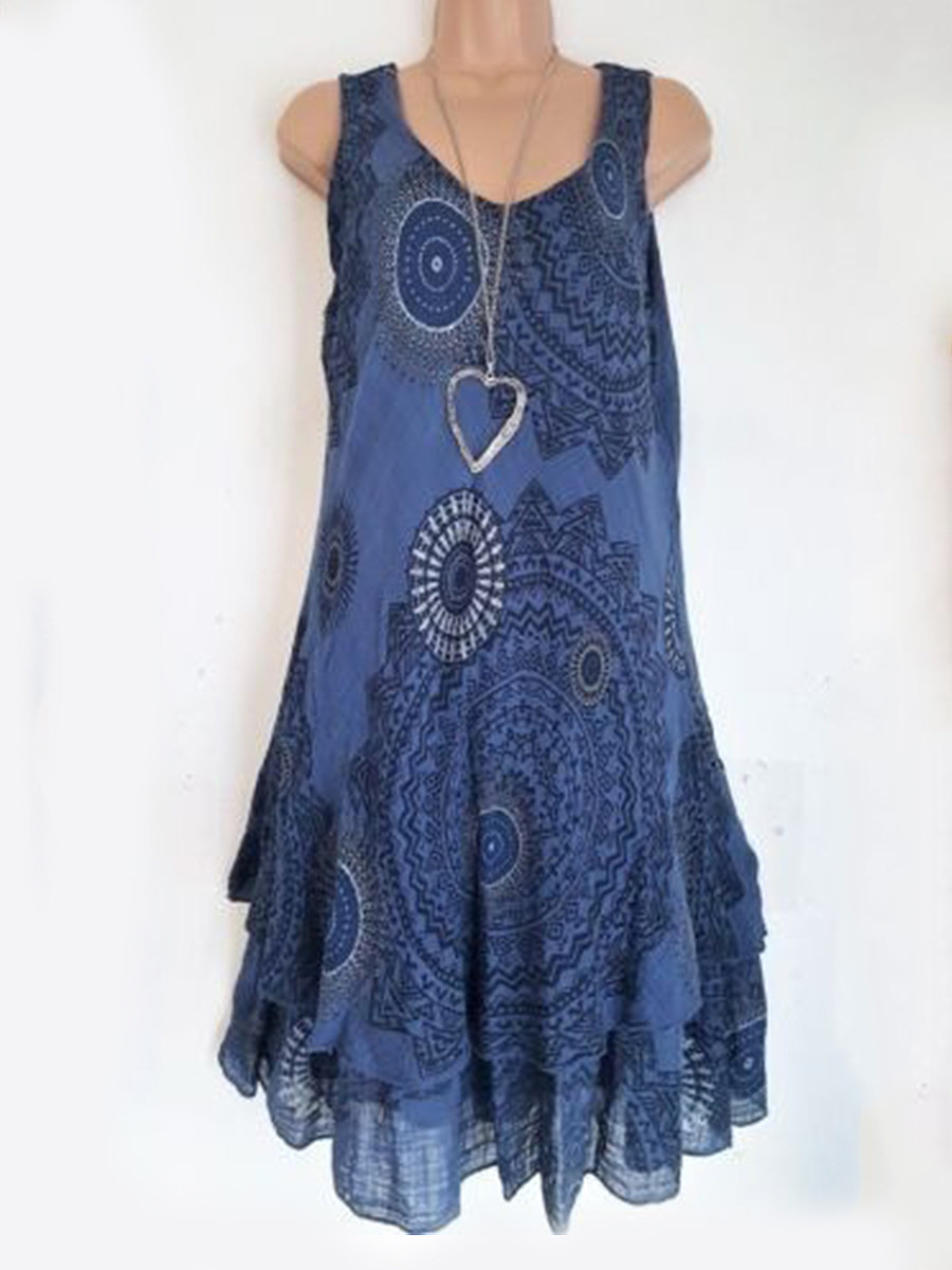 Sweet Heart  Asymmetric Hem  Print Shift Dress