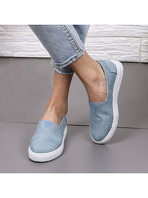 Women's Casual Solid Color Flat Shoes, 8045651