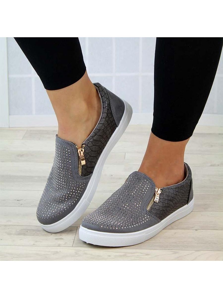 BerryLook Women's Casual Snake Pattern Sneakers