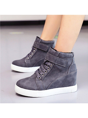 Plain Round Toe Sneakers, 9185451