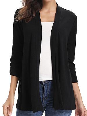 Patchwork Fashion Back Lace Three-Quarter Sleeve Cardigan, 8376537
