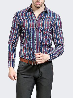 Fantastic Vertical Striped Men Shirts