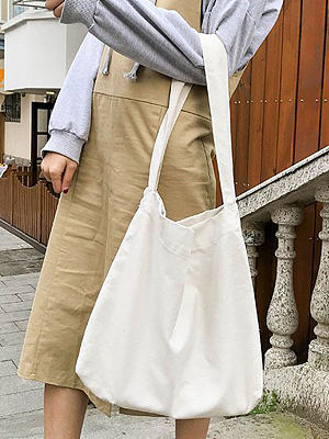 Japanese Style Plain Chic Shoulder Bags