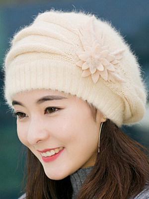 Elegance Fashion Faux Fur Tassel Decoration Polyamide Hats For Women