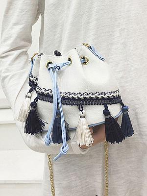 Plain Tassel Crossbody Bags For Women