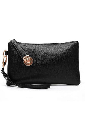 Berrylook coupon: Black Stylish Simple Long Zipper Wallet