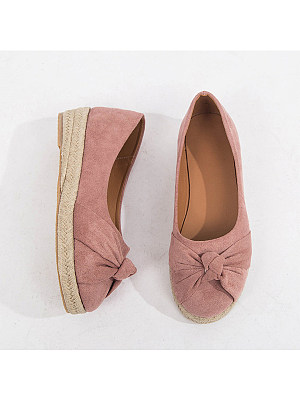 Plain Flat Velvet Round Toe Casual Flat & Loafers, 7508899