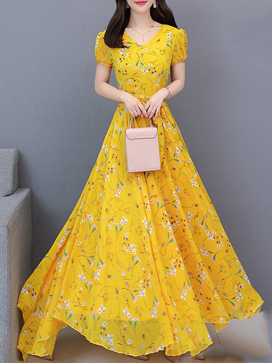 Sweet Heart  Print Maxi Dress