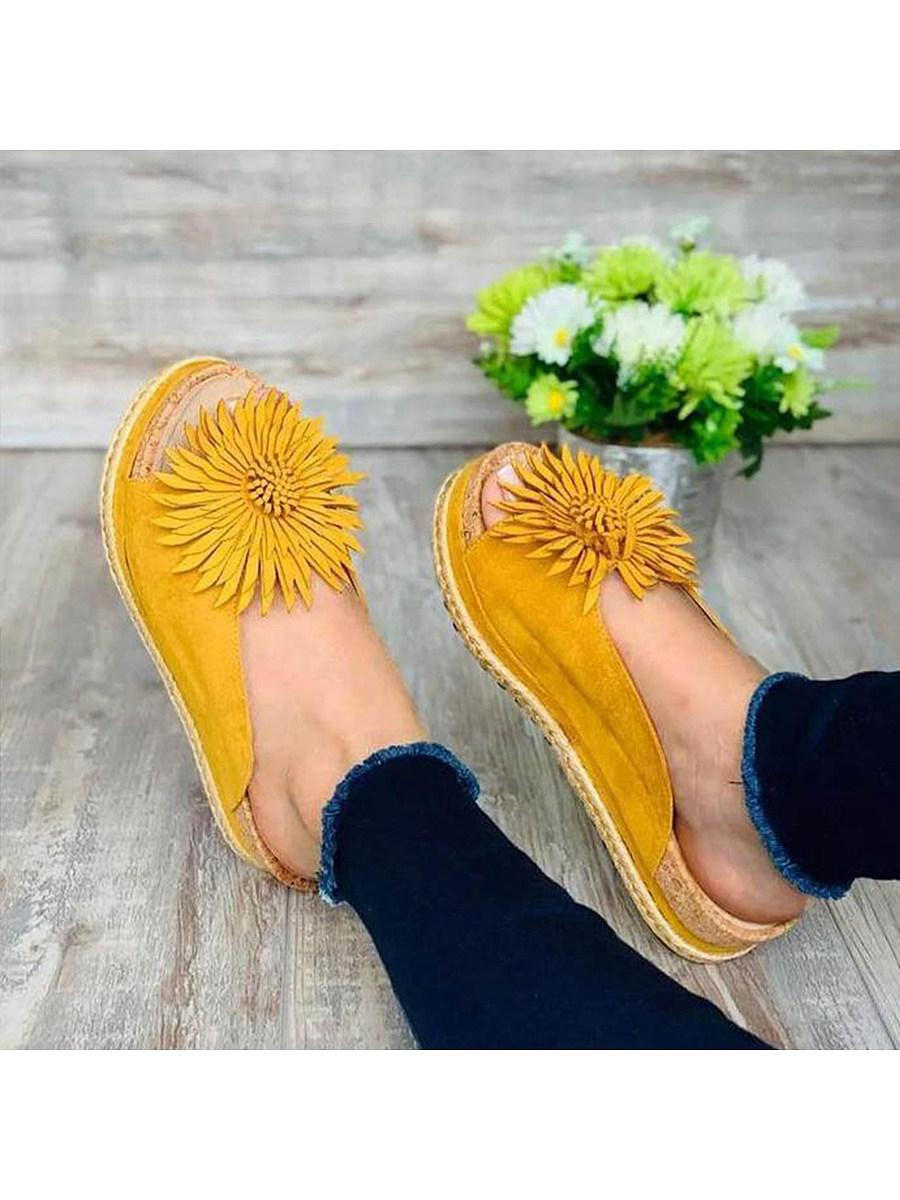 Plain Flat Peep Toe Casual Travel Comfort Slippers
