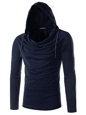 Hooded Men Plain T-Shirt фото