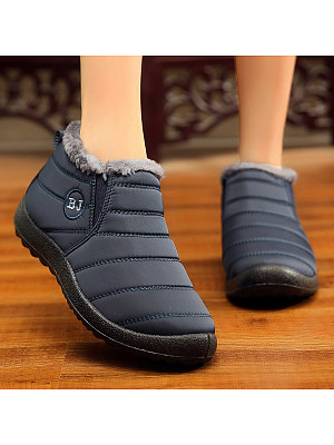 Plain  Flat  Round Toe  Casual  Ankle Ankle Boots