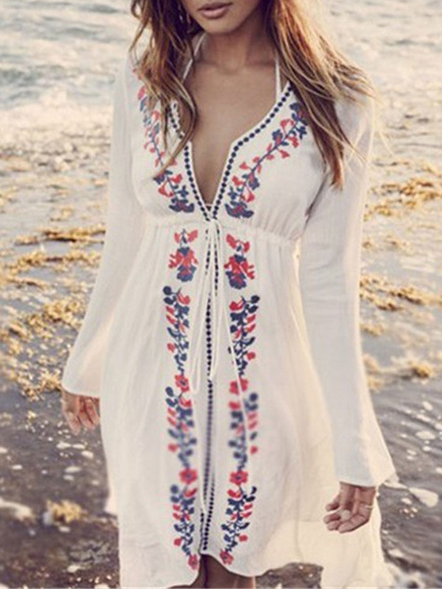 Floral Sweet Tunic For Beachwear