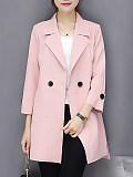 Fashion Turndown Collar Pure Colour Blazer