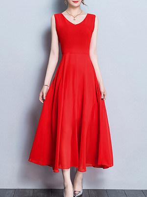 Sweet Heart Plain Maxi Dress, 4486356