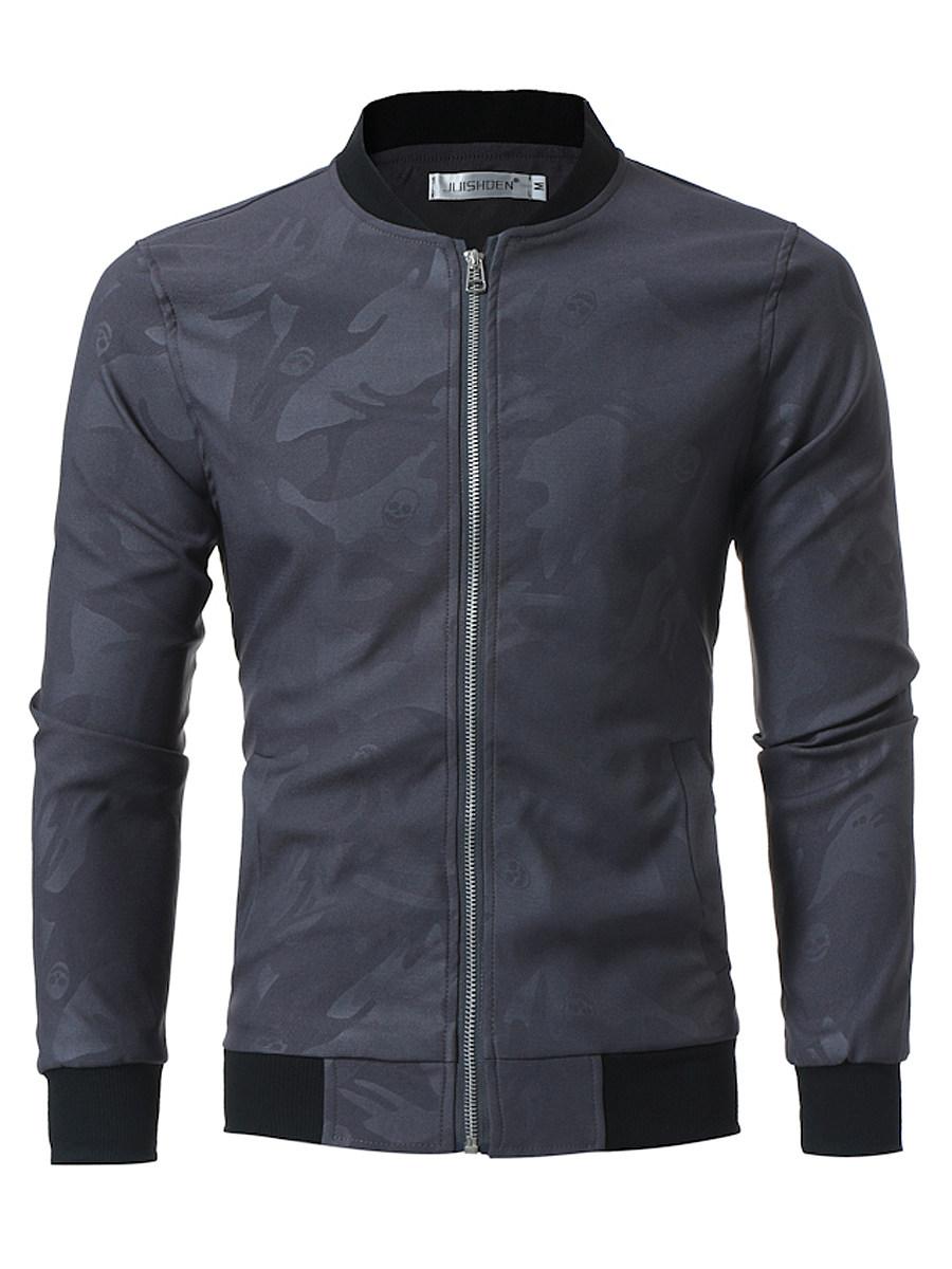 Band Collar  Pocket Men Jacket