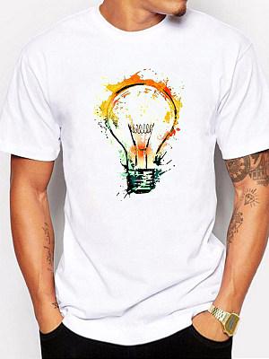 Round Neck  Printed T-Shirts & Vest