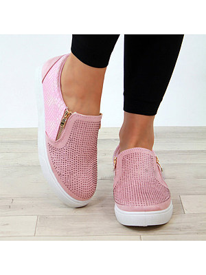 Round Toe Casual Date Travel Sneakers, 8032777
