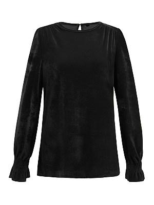 Round Neck Loose Fitting Plain Long Sleeve T-Shirts