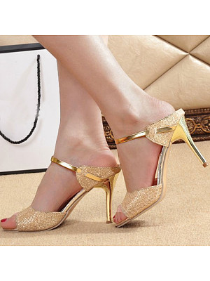 Stiletto High Heeled Peep Toe Date Event Pumps фото