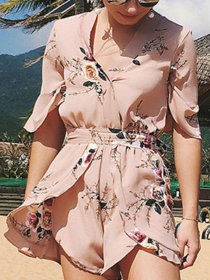 Floral Printed Jumpsuits For Women