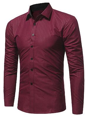 Plain Vertical Striped Men Shirts