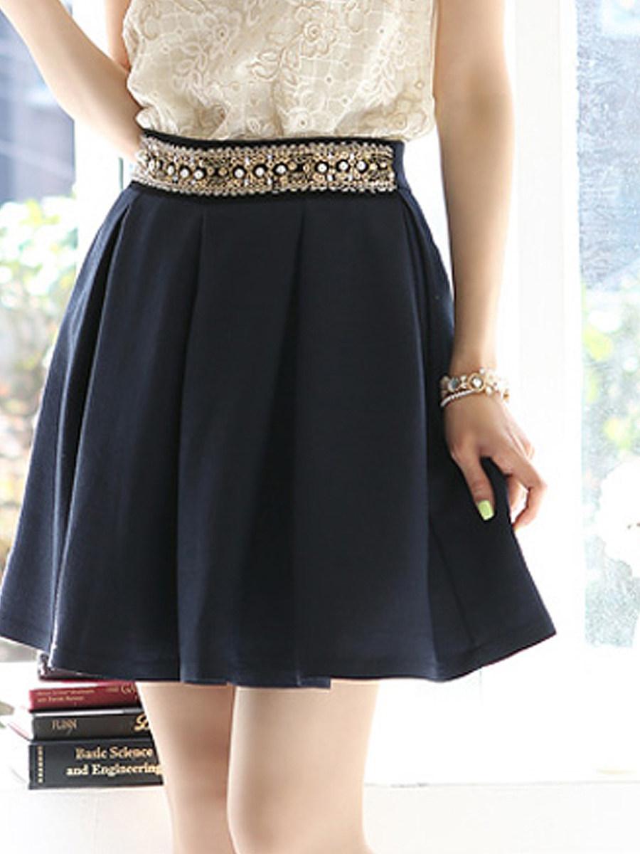 Beading Mini Skirt